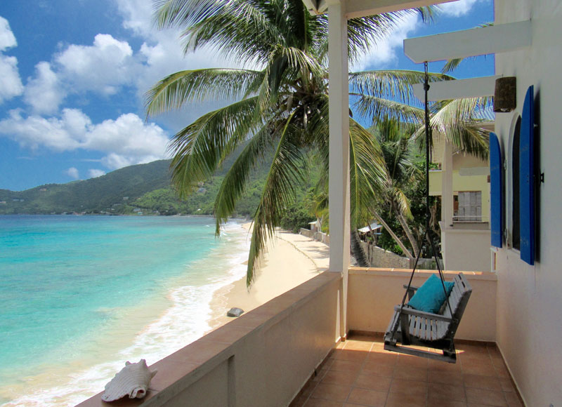 Balcony View of Caribbean from Apple Bay Tortola